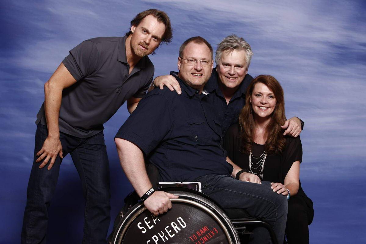 Darsteller aus Stargate SG-1 und ich. Amanda Tapping, Richard Dean Anderson und Michael Shanks